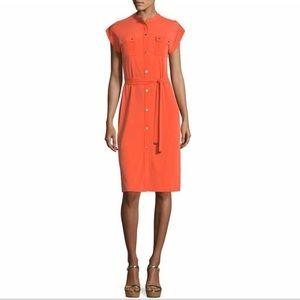 Michael Michael Kors Orange Shirt Dress